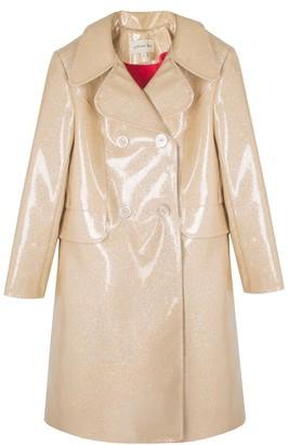 Paloma Lira Glitter Nude Coat