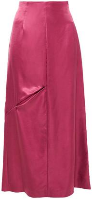 MM6 MAISON MARGIELA Cutout Satin Midi Skirt