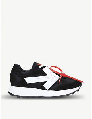 Off-White Arrow Runner suede and shell trainers