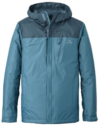 L.L. Bean Men's Trail Model Rain Jacket, Fleece-Lined, Colorblock