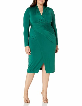 Rachel Roy Women's Plus Size Solid Long Sleeve Jersey Bret Dress