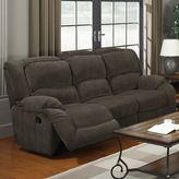 Nimbus Pulaski Caesar Console Reclining Sofa in Grey