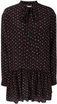 Saint Laurent lavaliere mini dress - women - Silk - 36