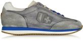 D'Acquasparta D'Acquasparta Leonardo Gray Fabric and Suede Sneaker