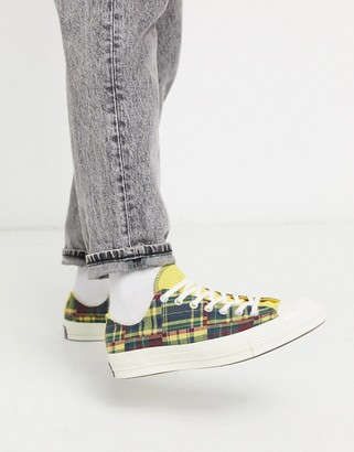 Converse Chuck '70 ox patchwork woven sneakers in yellow/red