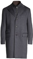 Corneliani Single-Breasted Wool Top Coat