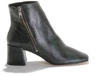 Jonak Adnile Snakeskin Effect Boots in Leather