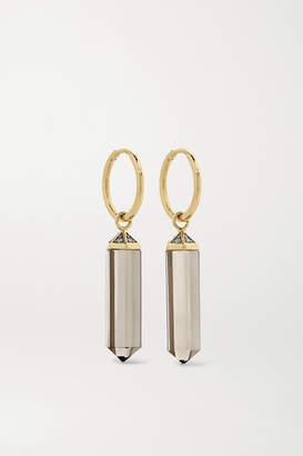 Noor Fares 18-karat Gold, Quartz And Diamond Earrings