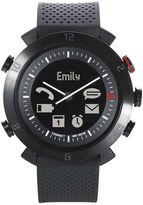 Asstd National Brand Cogito Classic Black Bezel Black Silicone Strap Analog/Digital Smartwatch