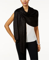 Calvin Klein Metallic Herringbone Scarf & Wrap in one