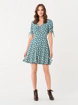 Diane von Furstenberg Carin Tissue Jersey Mini Dress