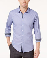 Ryan Seacrest Distinction Ryan Seacrest Distinctionandtrade; Men's Blue Micro-Pattern Button Placket Woven Shirt, Created for Macy's