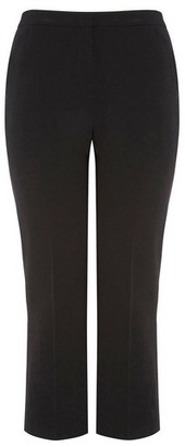 Dorothy Perkins Womens Dp Curve Black Formal Tailored Fit Bootcut Leg Trousers, Black