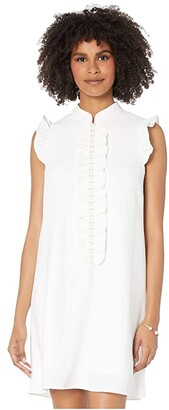 Lilly Pulitzer Adalee Shift Dress (Resort White) Women's Dress