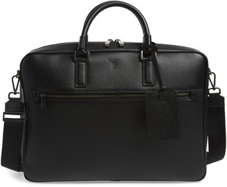 Serapian Milano Evoluzione Water Resistant Leather Briefcase
