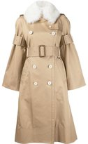 Sacai buckle sleeve trench coat