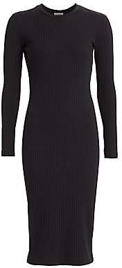 RE/DONE Women's 90s Ribbed Long-Sleeve Dress