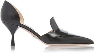 Prada Pointed Toe Sleek Loafer