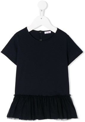 Il Gufo Ruffle-Hem Short-Sleeve Top