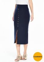 Vero Moda Maine Knitted Split Skirt - Navy