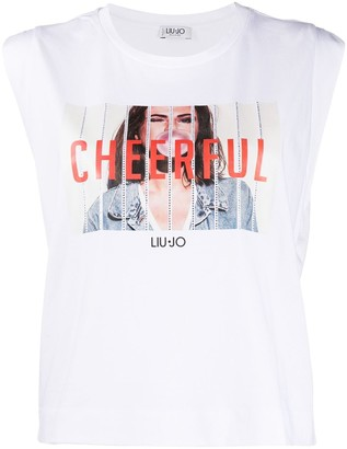 Liu Jo rhinestone-embellished Cheerful T-shirt