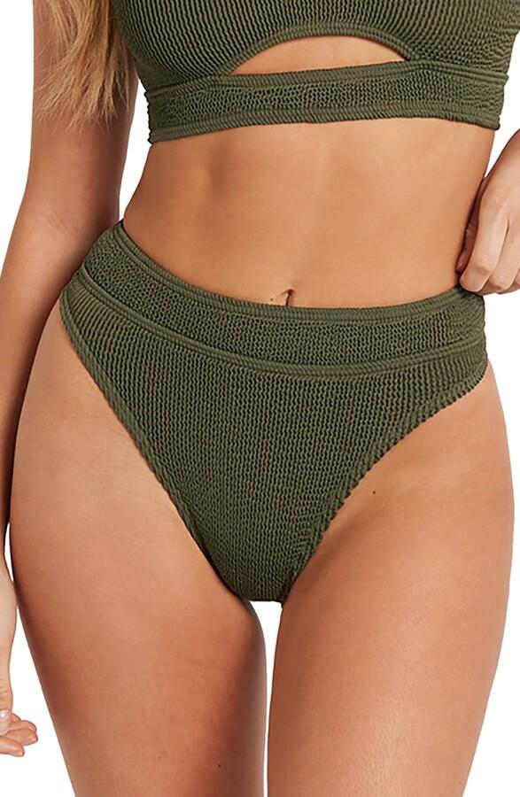 Thumbnail for your product : BOUND by Bond-Eye The Savannah High-Waist Ribbed Bikini Bottoms
