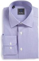 David Donahue Men's Regular Fit Check Dress Shirt