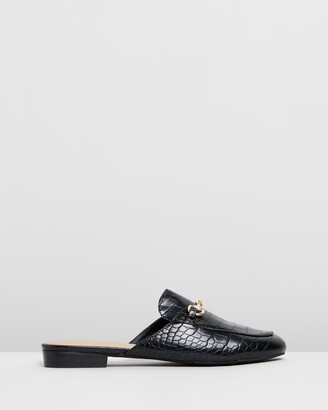 Spurr Women's Black Brogues & Loafers - Sim Mules - Size 5 at The Iconic