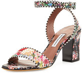 Tabitha Simmons Leticia Floral-Print City Sandal, Multi Rose