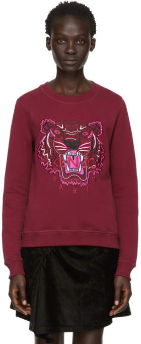 Kenzo Red Limited Edition Holiday Tiger Sweatshirt