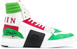 Philipp Plein Phantom Kick$ hi-top sneakers