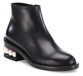Nicholas Kirkwood Women's Casati Faux Pearl Leather Ankle Boots