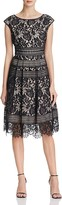 Eliza J Fit-And-Flare Lace Dress