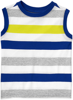 Crazy 8 Pacific Surf Blue & Gray Stripe Tank - Infant & Toddler