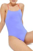 Topshop Women's Reversible One-Piece Swimsuit