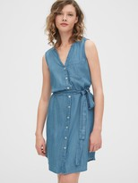 Gap Sleeveless Shirtdress in TENCEL