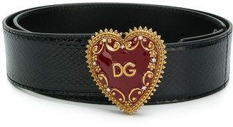 Dolce & Gabbana My Heart logo buckle belt