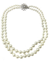 Double Pearl Strand Necklace
