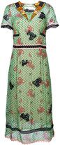 Coach nautical paisley midi dress - women - Cupro - 2