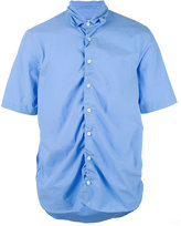 Marni ruched short sleeve shirt - men - Cotton - 48