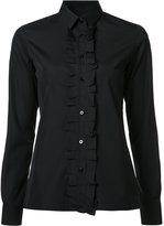 Maison Margiela ruffle placket shirt - women - Cotton - 38