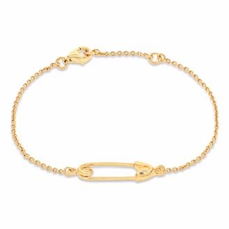 True Rocks Safety Pin Bracelet Yellow Gold