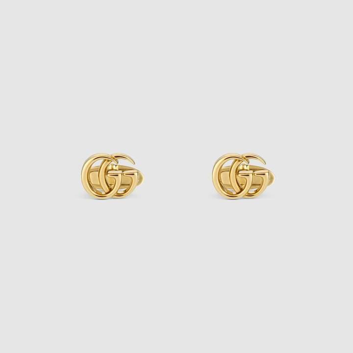 Gucci GG Running yellow gold cufflinks
