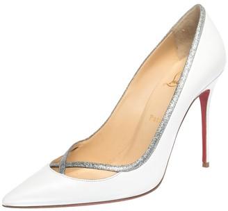 Christian Louboutin White Leather Princess Pumps Size 40