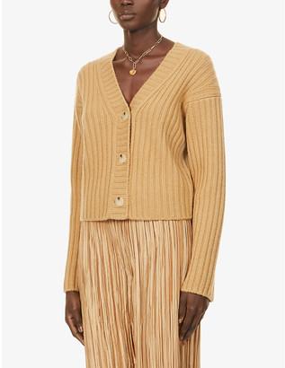 Vince V-neck dropped-shoulder wool and cashmere-blend cardigan