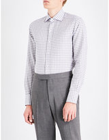 Tom Ford Slim-fit Checked Cotton And Linen-blend Shirt