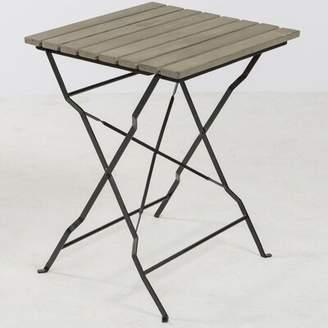Gracie Oaks Barrera Folding Metal Bistro Table Gracie Oaks