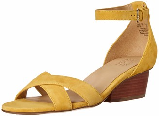 Naturalizer Womens Caine Yellow Suede Ankle Straps 8.5 N