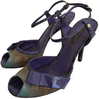 Louis Vuitton \N Purple Cloth Sandals