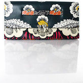 Valentino Multicolored Leather Abstract Clutch Handbag